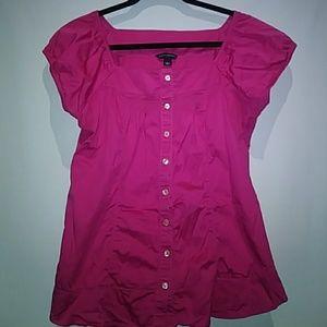 Pink blouse Banana Republic